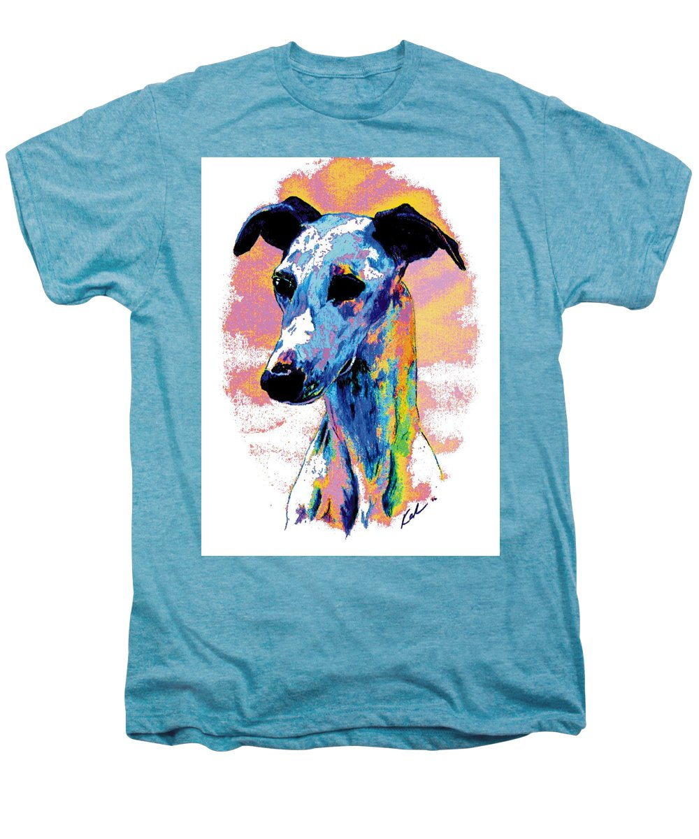 Electric Whippet Men's Premium T-Shirt featuring the digital art Electric Whippet by Kathleen Sepulveda