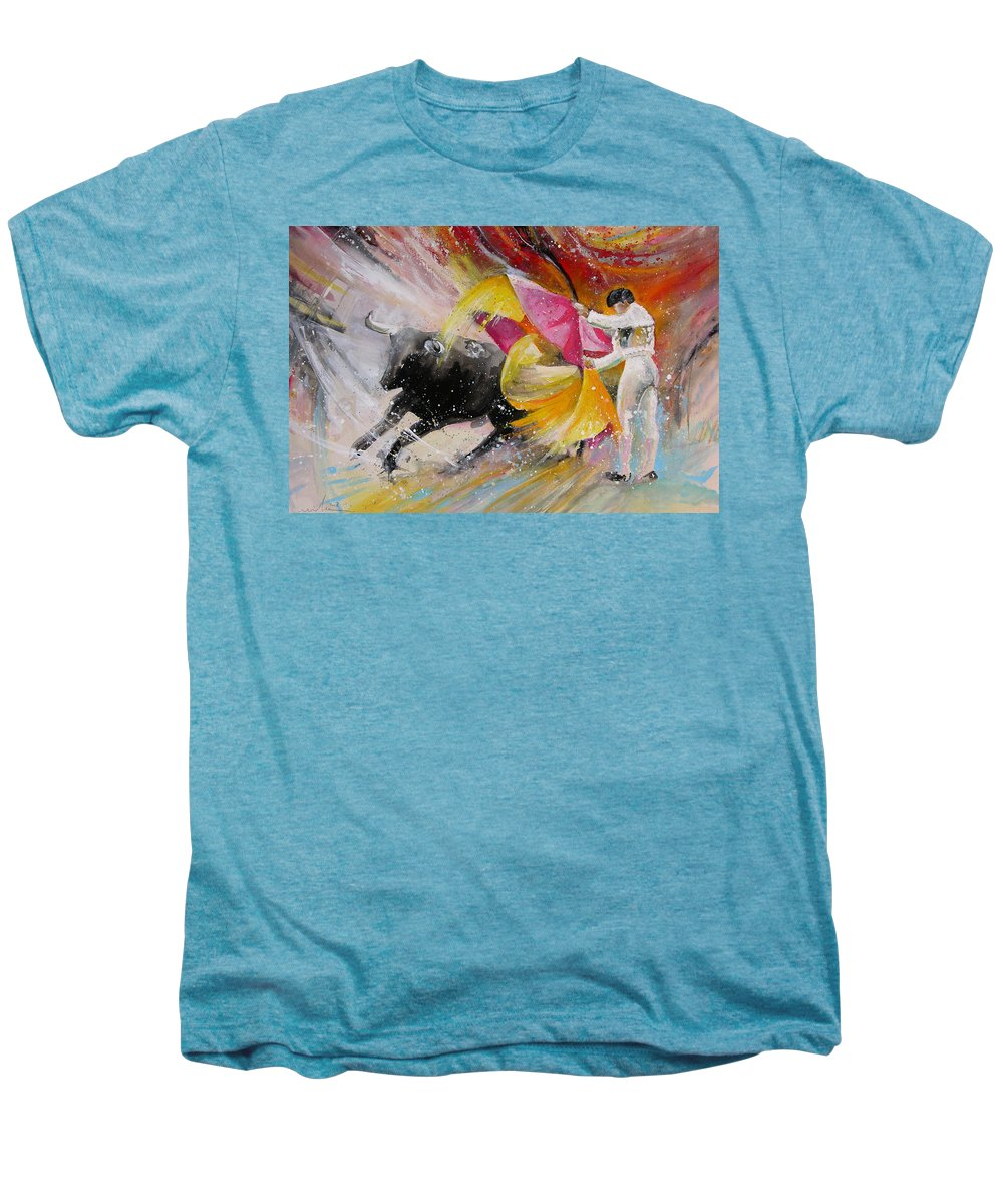 Animals Men's Premium T-Shirt featuring the painting Elegance by Miki De Goodaboom