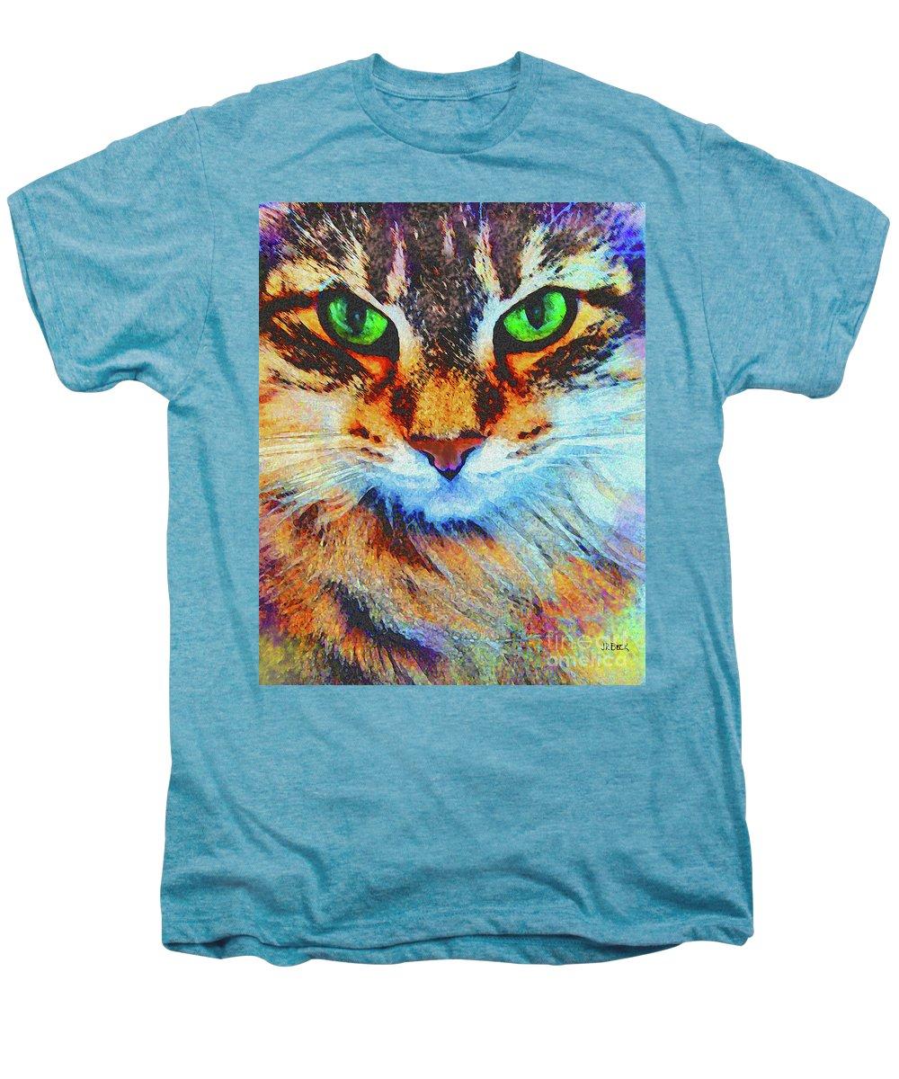 Emerald Gaze Men's Premium T-Shirt featuring the digital art Emerald Gaze by John Beck