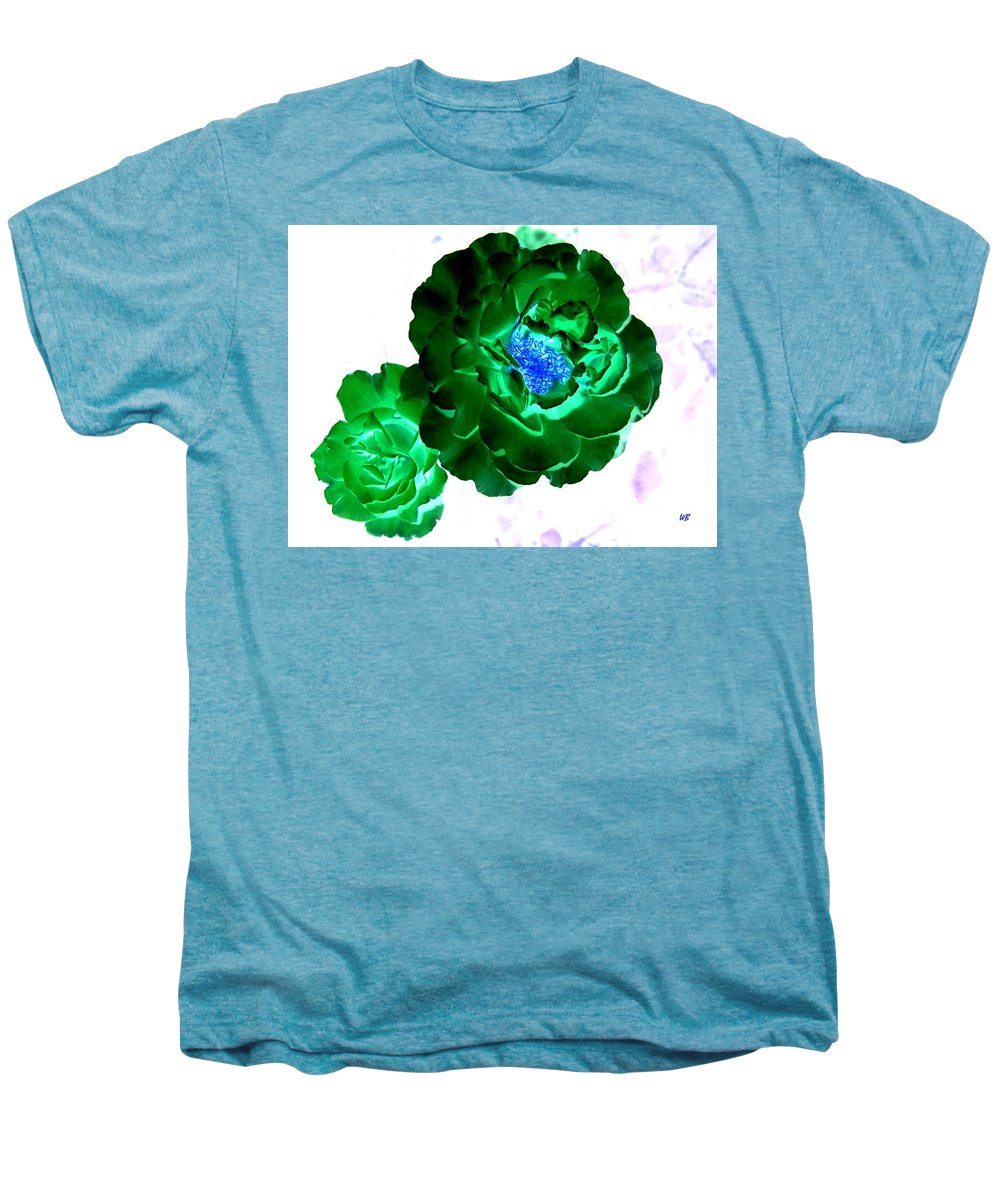 Rose Men's Premium T-Shirt featuring the digital art Emerald Rose by Will Borden