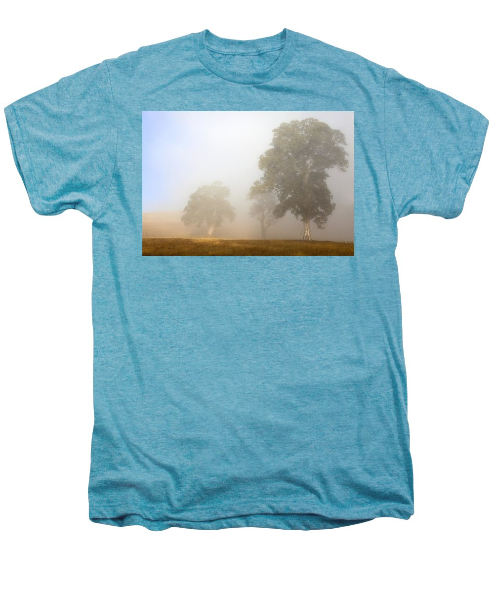 Gum Tree Men's Premium T-Shirt featuring the photograph Emerging From The Fog by Mike Dawson