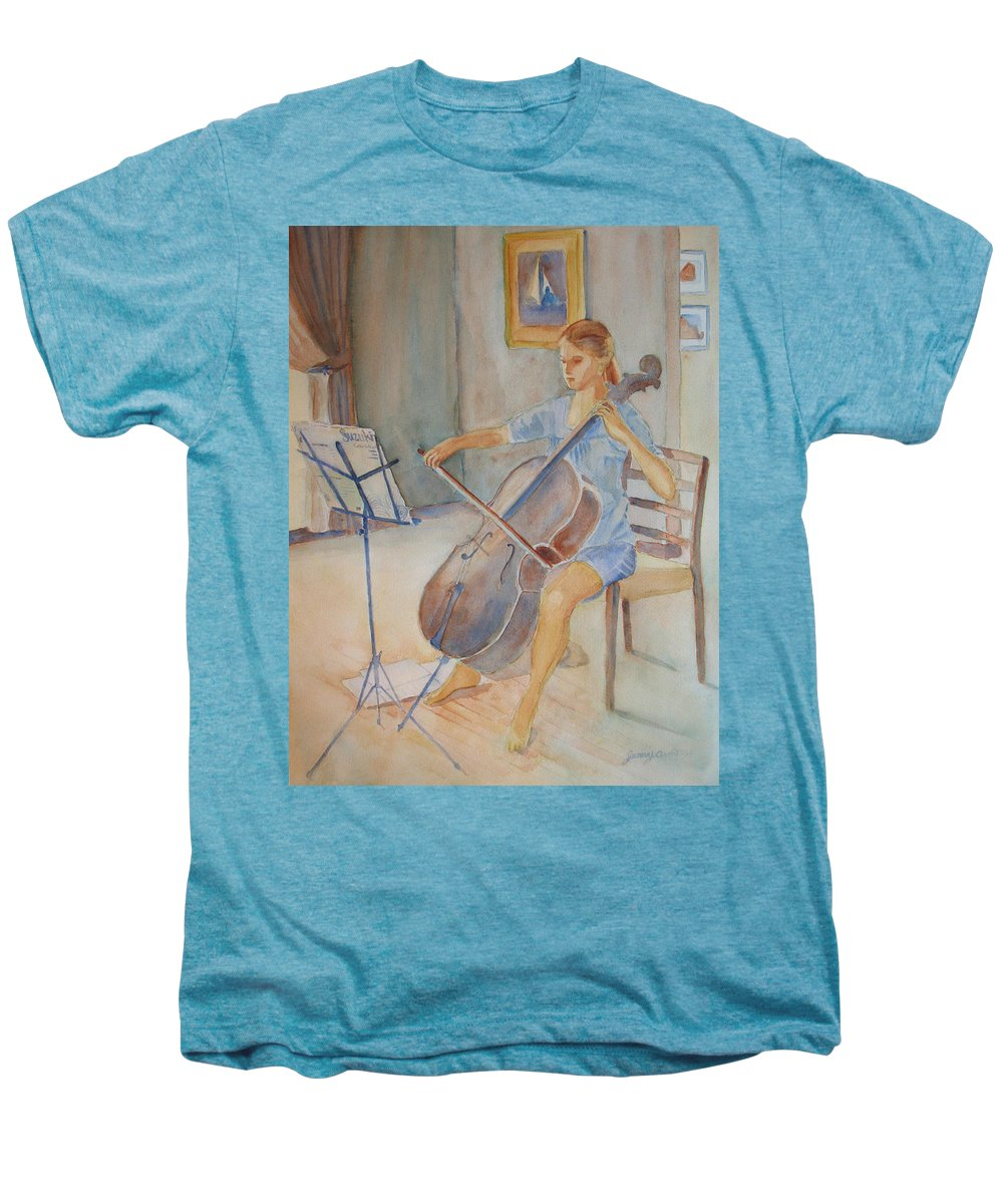 Girls Men's Premium T-Shirt featuring the painting Emma And Clifford by Jenny Armitage