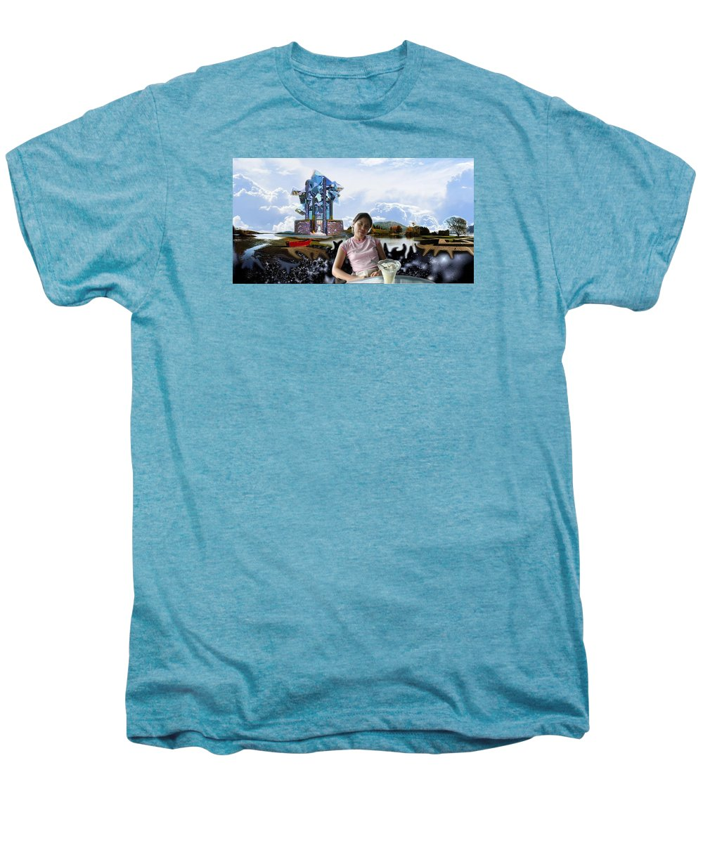 Spacem Maine Men's Premium T-Shirt featuring the digital art Emma's Afternoon Snack by Dave Martsolf