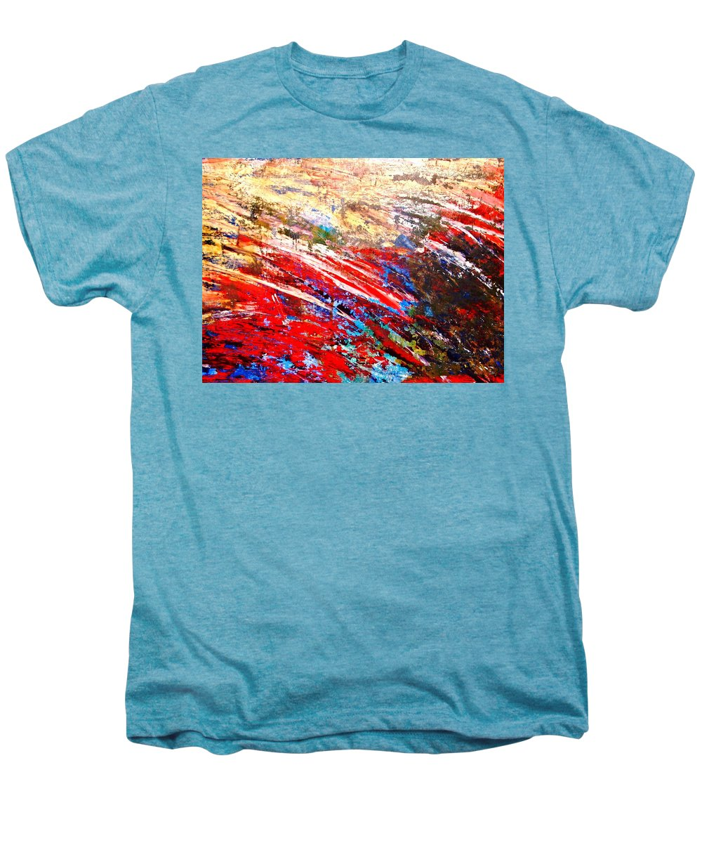 Expressionism Men's Premium T-Shirt featuring the painting Emotional Explosion by Natalie Holland