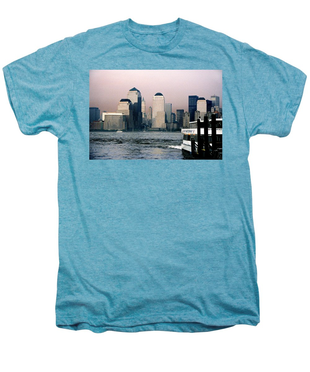 New York Men's Premium T-Shirt featuring the photograph Empty Sky by Steve Karol