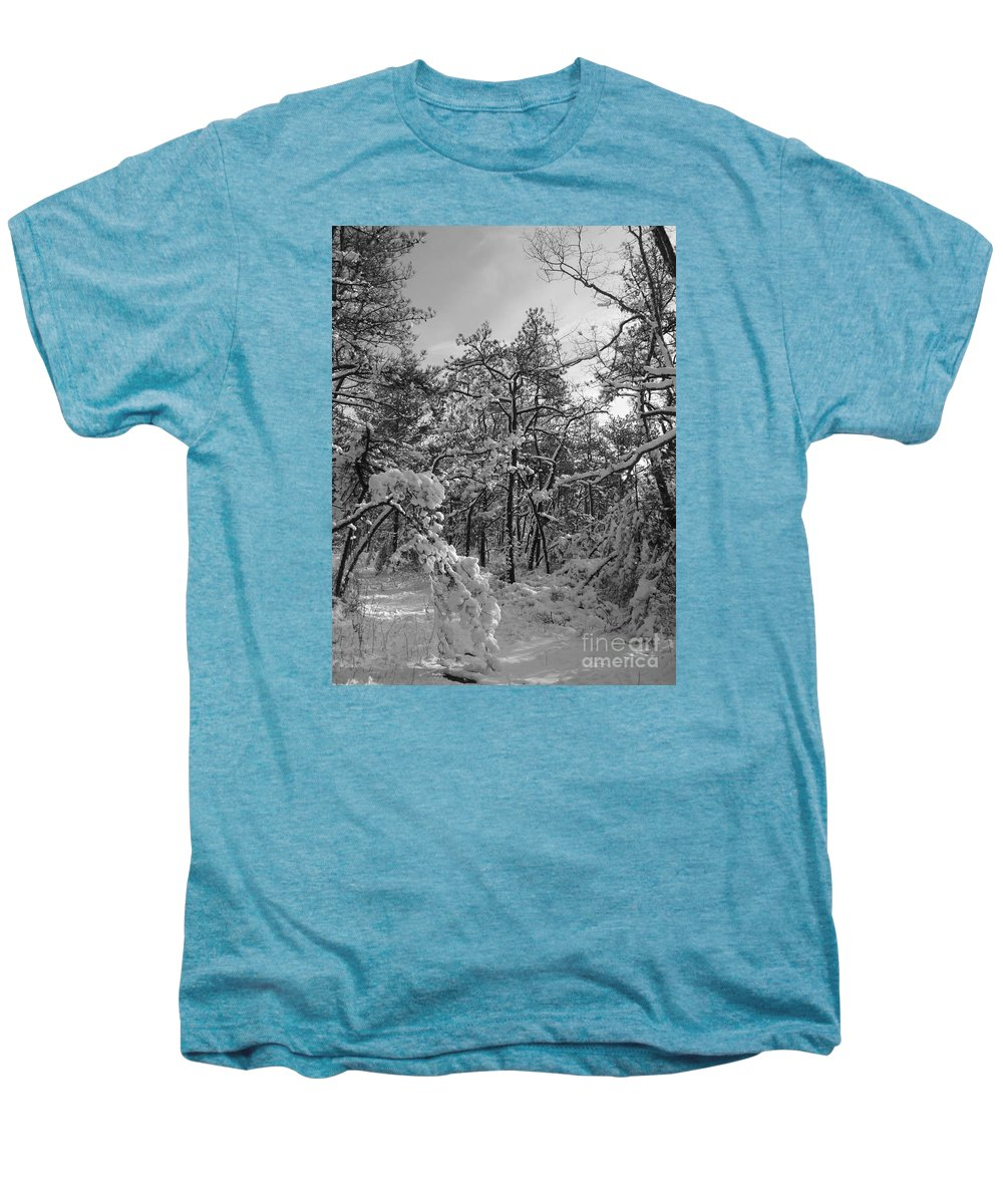 Black And White Men's Premium T-Shirt featuring the photograph Empty Travel by Chad Natti