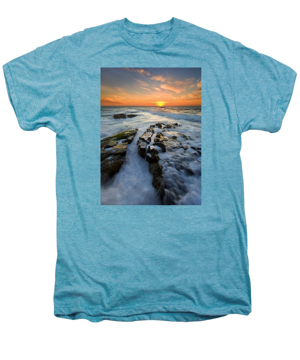Sunset Men's Premium T-Shirt featuring the photograph Engulfed by Mike Dawson