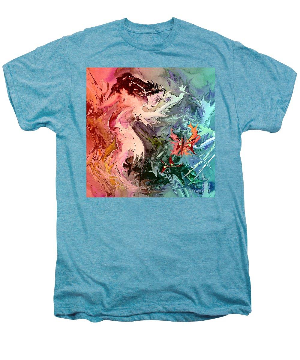 Miki Men's Premium T-Shirt featuring the painting Eroscape 08 1 by Miki De Goodaboom