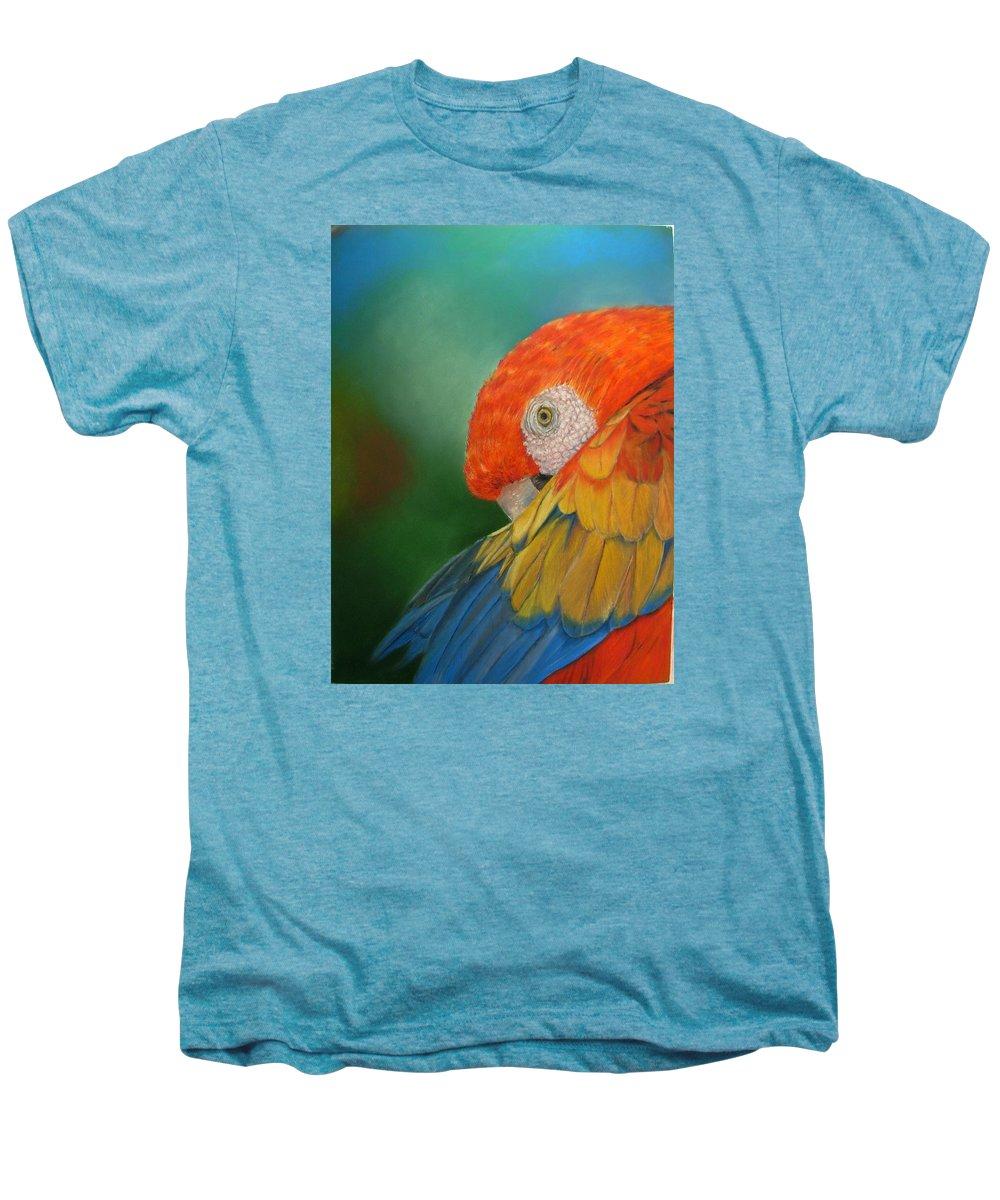 Bird Men's Premium T-Shirt featuring the painting Escondida by Ceci Watson