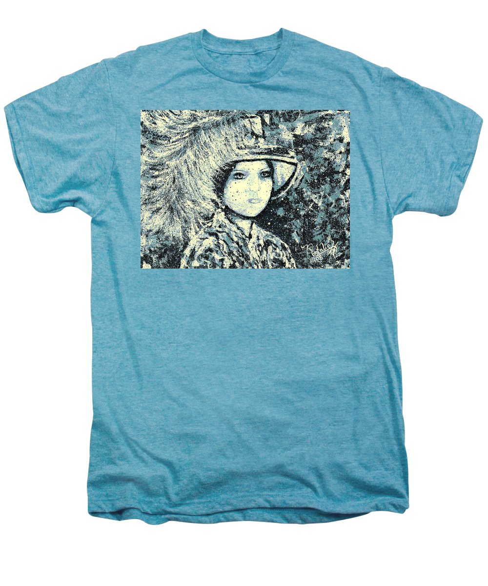 Woman Men's Premium T-Shirt featuring the painting Evalina by Natalie Holland