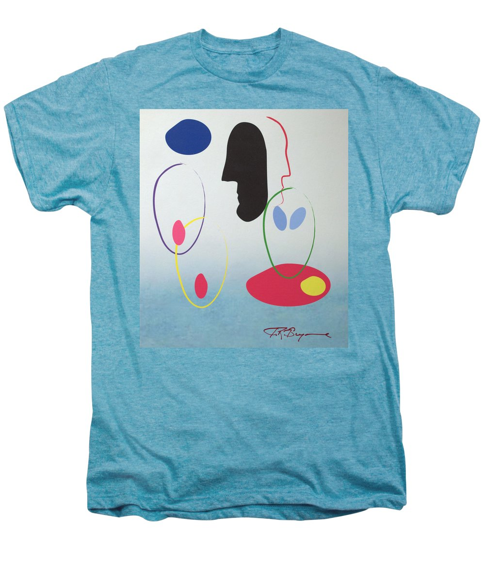 Digital Artwork Men's Premium T-Shirt featuring the digital art Everyones Talking And No One's Listening by J R Seymour
