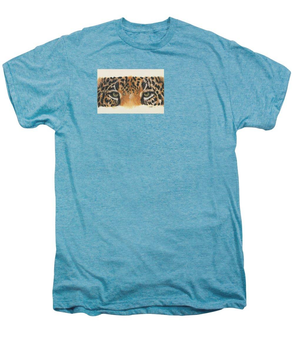 Jaguar Men's Premium T-Shirt featuring the painting Eye-catching Jaguar by Barbara Keith
