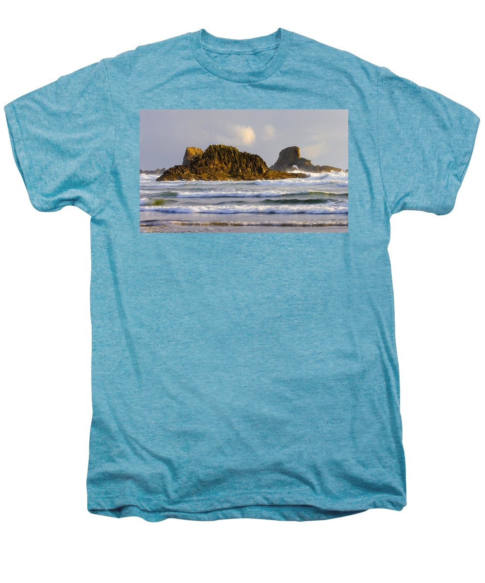 Seastacks Men's Premium T-Shirt featuring the photograph Eye Of The Storm by Mike Dawson