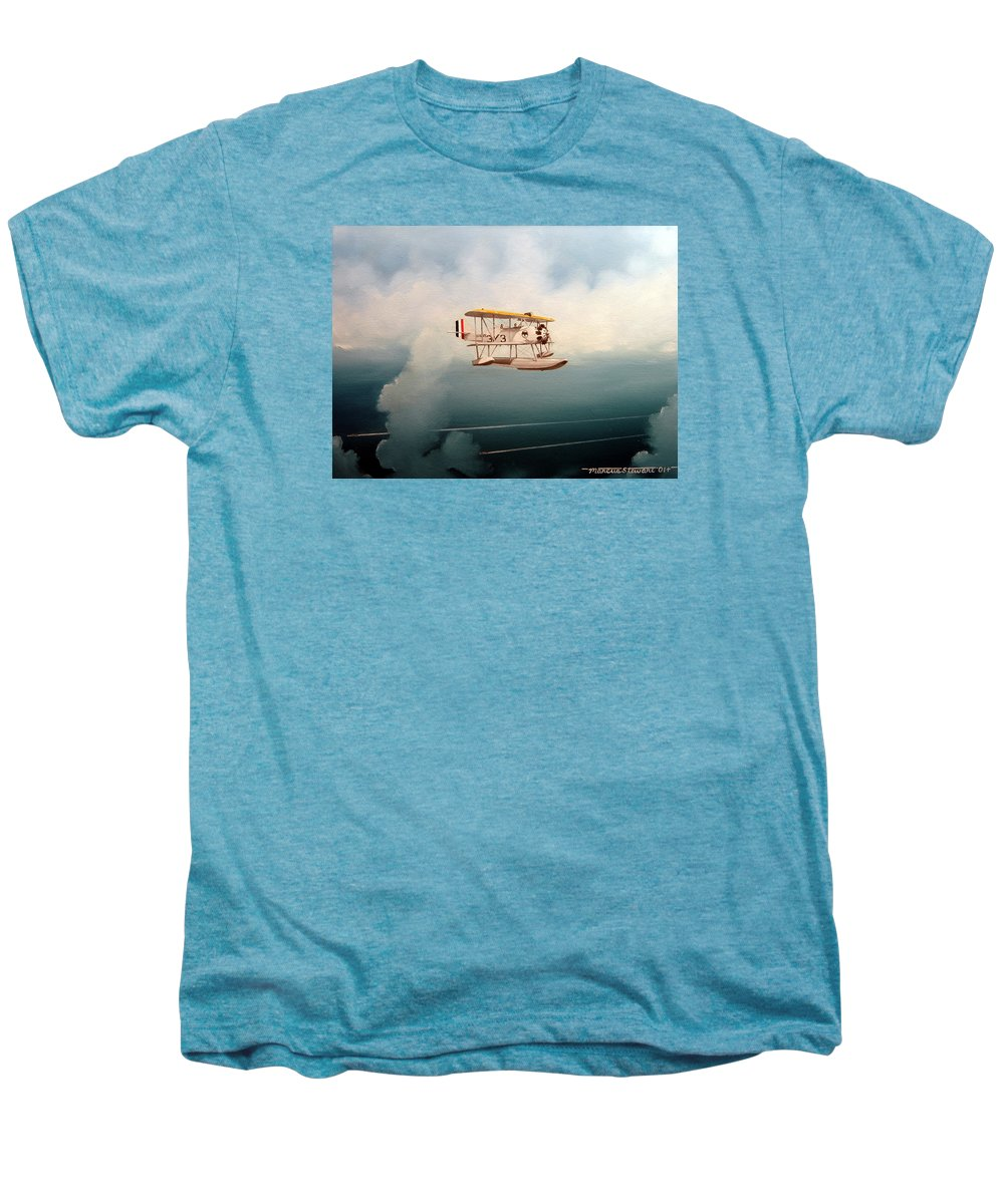 Military Men's Premium T-Shirt featuring the painting Eyes Of The Fleet by Marc Stewart