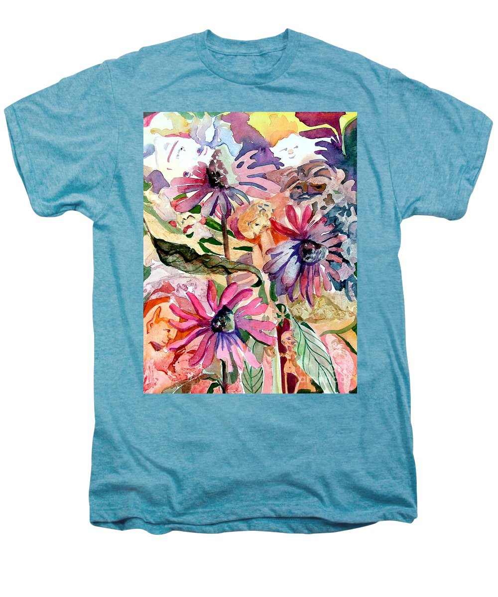 Daisy Men's Premium T-Shirt featuring the painting Fairy Land by Mindy Newman