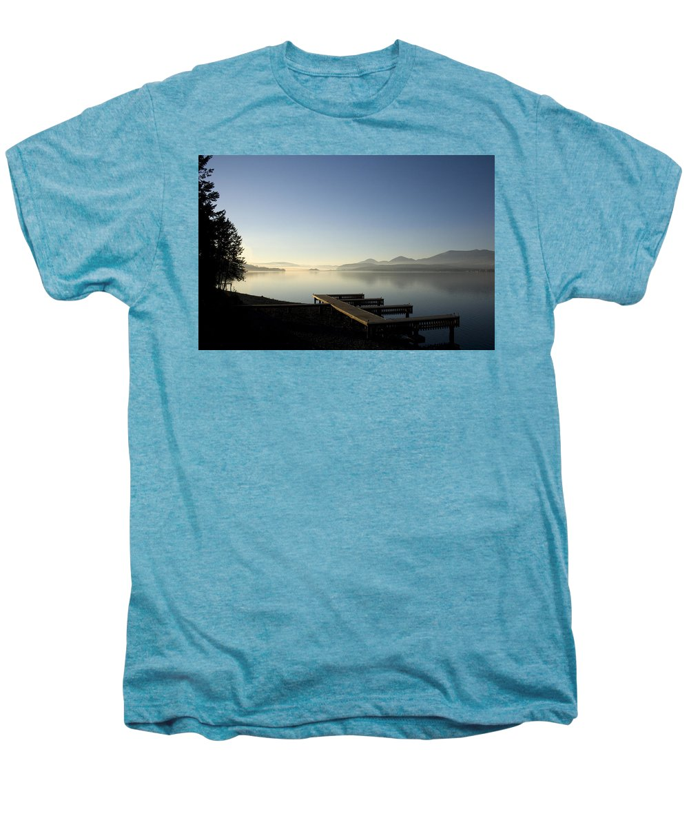 Landscape Men's Premium T-Shirt featuring the photograph Fall Evening by Lee Santa