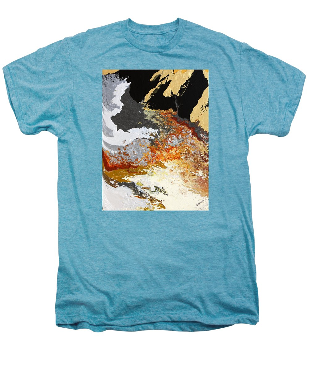 Fusionart Men's Premium T-Shirt featuring the painting Fathom by Ralph White
