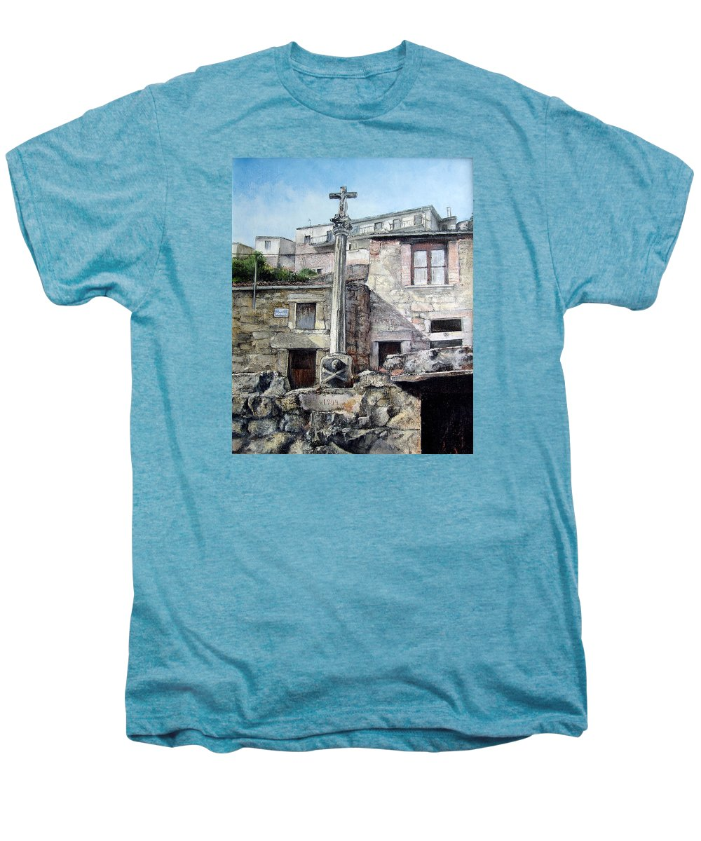 Fermoselle Men's Premium T-Shirt featuring the painting Fermoselle.-crucero by Tomas Castano