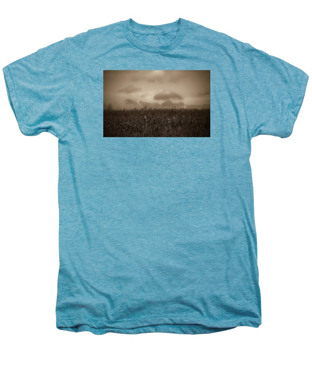 Poland Men's Premium T-Shirt featuring the photograph Field In Sepia Northern Poland by Michael Ziegler