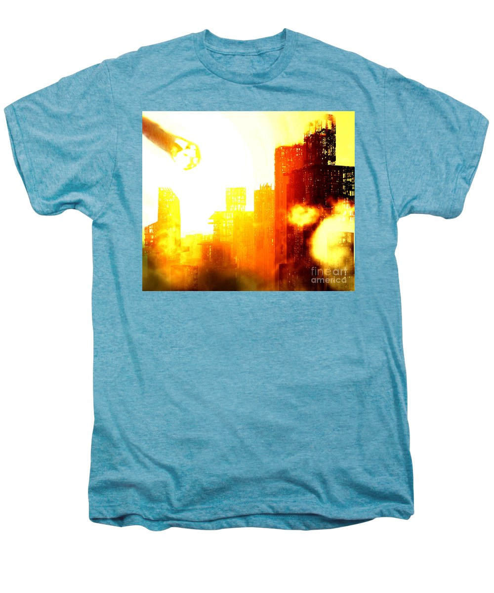 Meteor Showe Men's Premium T-Shirt featuring the digital art Final Strike by Richard Rizzo