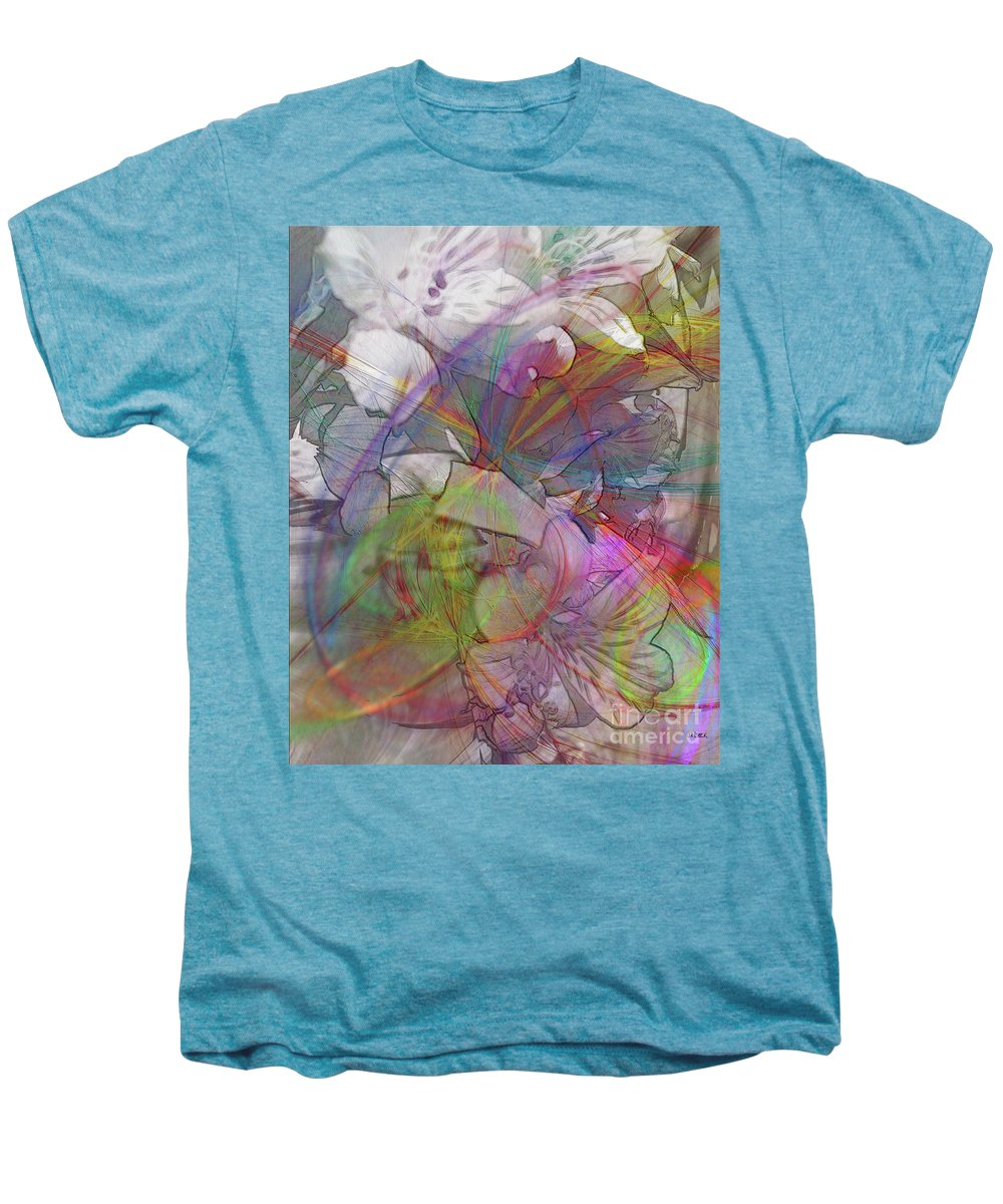 Floral Fantasy Men's Premium T-Shirt featuring the digital art Floral Fantasy by John Beck