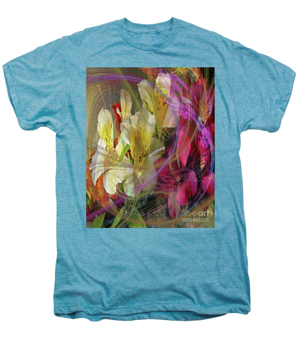 Floral Inspiration Men's Premium T-Shirt featuring the digital art Floral Inspiration by John Beck