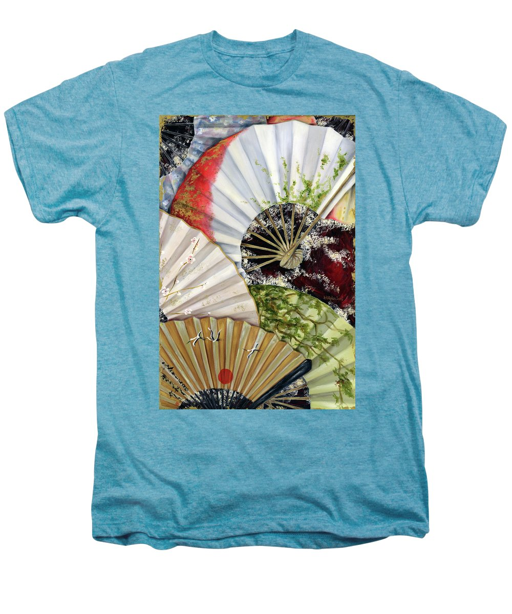Japanese Men's Premium T-Shirt featuring the painting Flower Garden by Hiroko Sakai