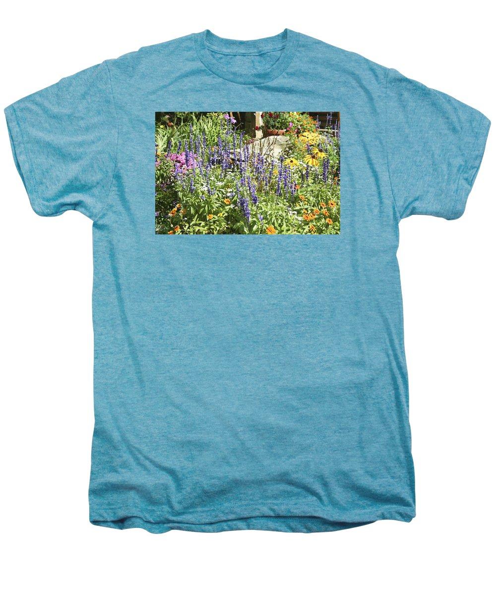 Flower Men's Premium T-Shirt featuring the photograph Flower Garden by Margie Wildblood