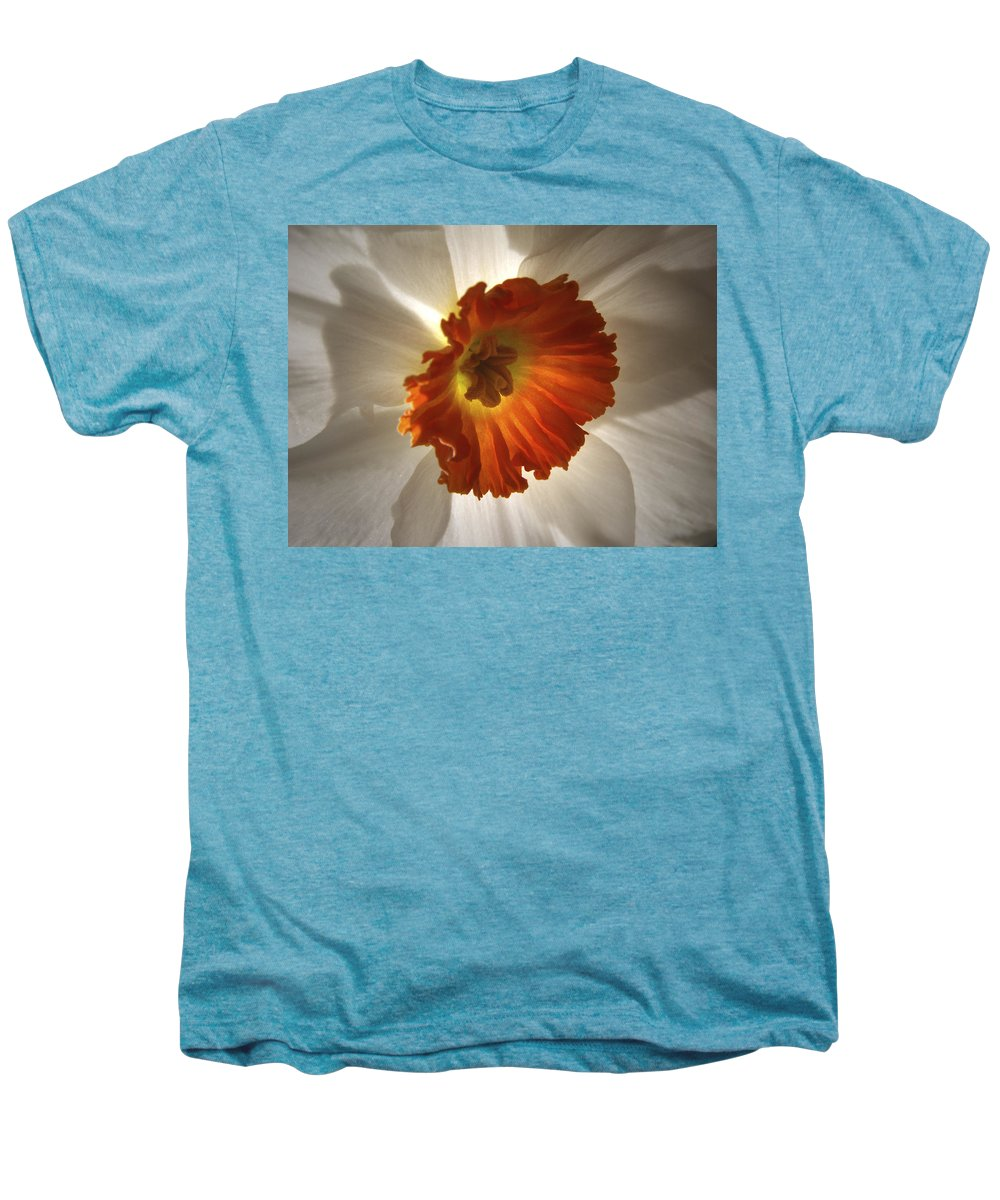 Flowers Men's Premium T-Shirt featuring the photograph Flower Narcissus by Nancy Griswold