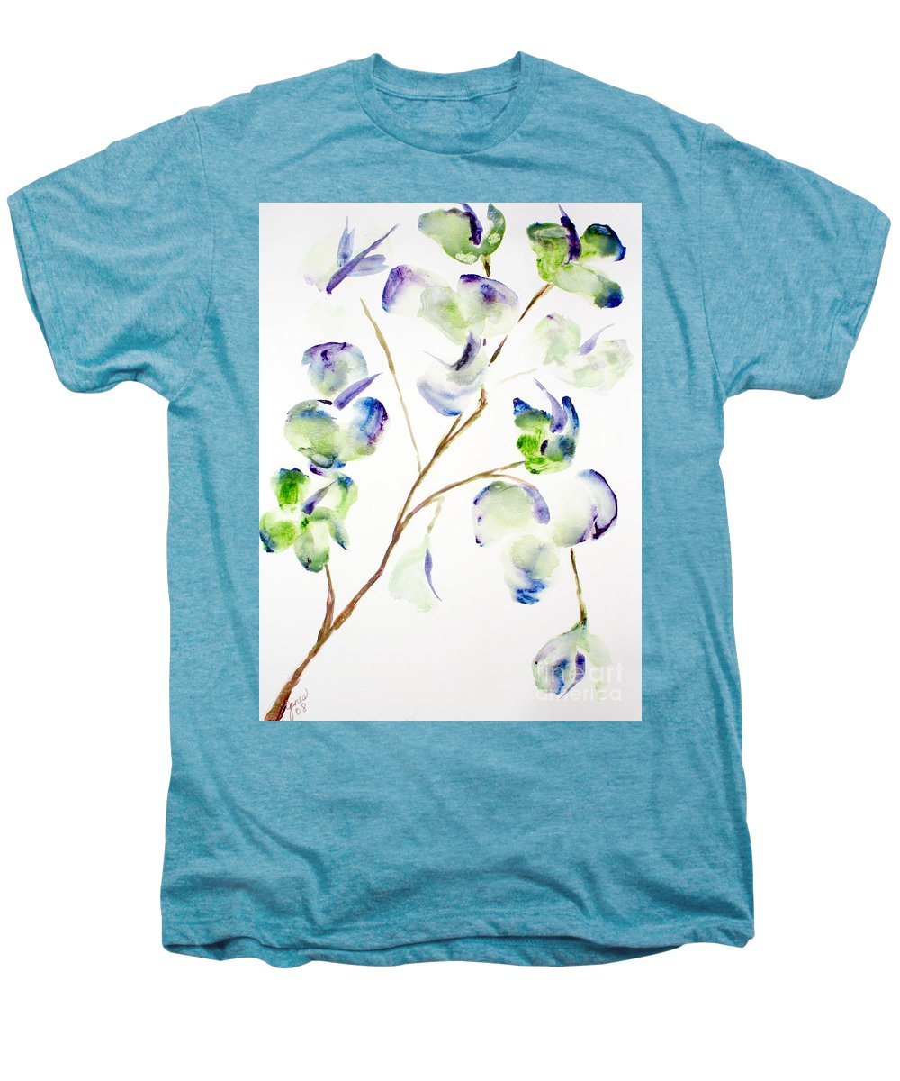 Flower Men's Premium T-Shirt featuring the painting Flower by Shelley Jones
