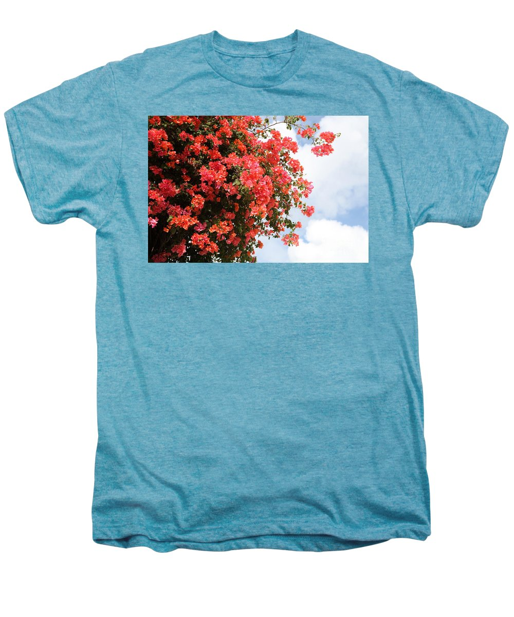 Hawaii Men's Premium T-Shirt featuring the photograph Flowering Tree by Nadine Rippelmeyer