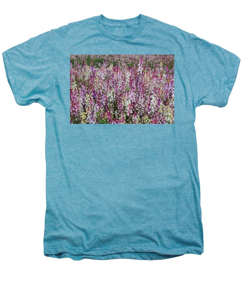 Field Of Flowers Men's Premium T-Shirt featuring the photograph Flowers Forever by Carol Groenen