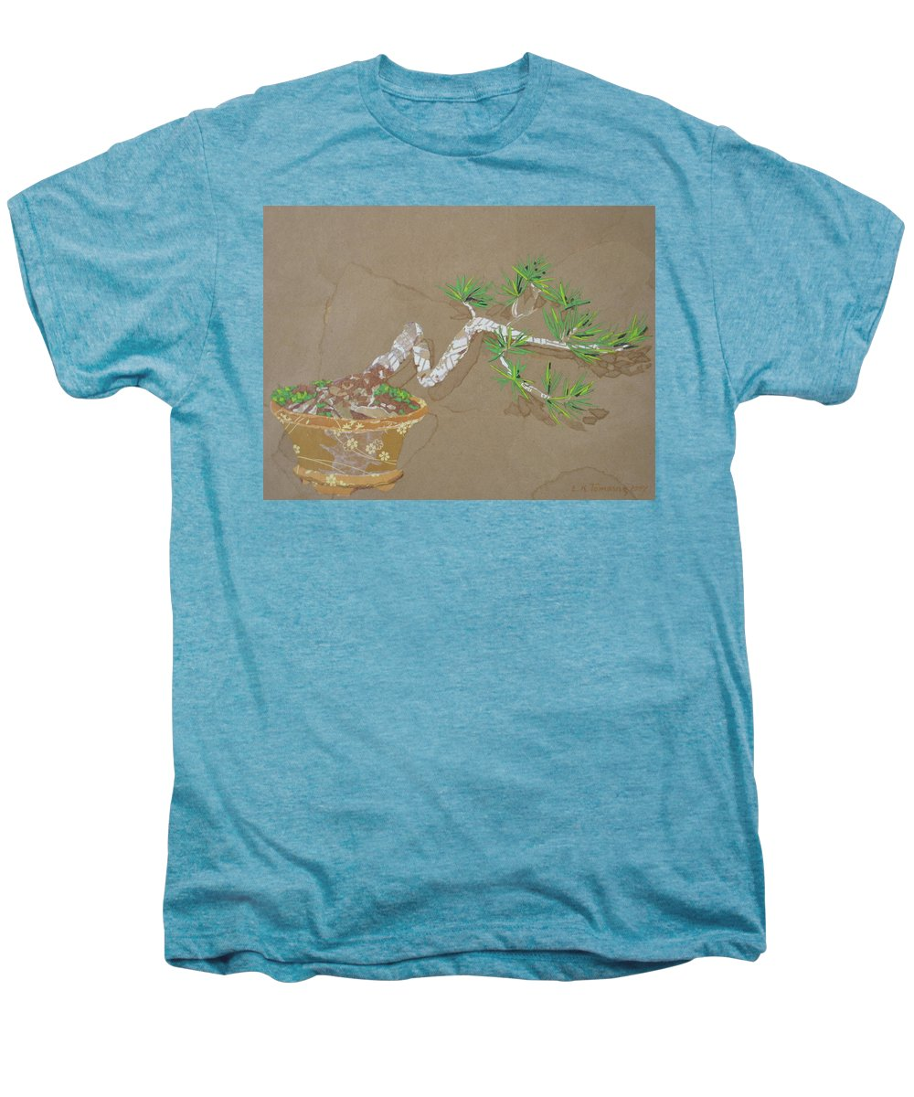 Banzai Tree Men's Premium T-Shirt featuring the painting For Inge by Leah Tomaino