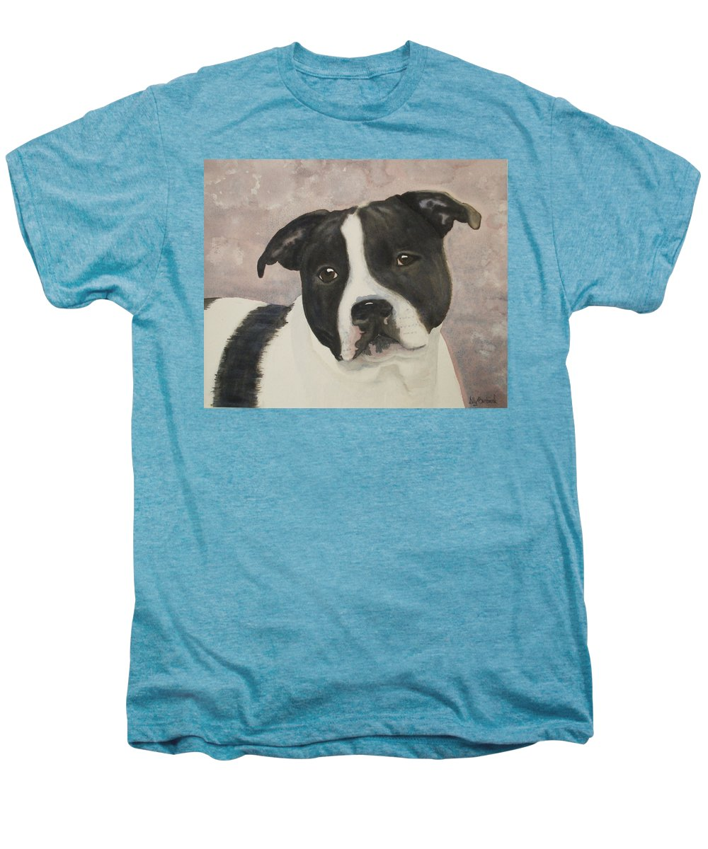 Dog Men's Premium T-Shirt featuring the painting For Me by Ally Benbrook