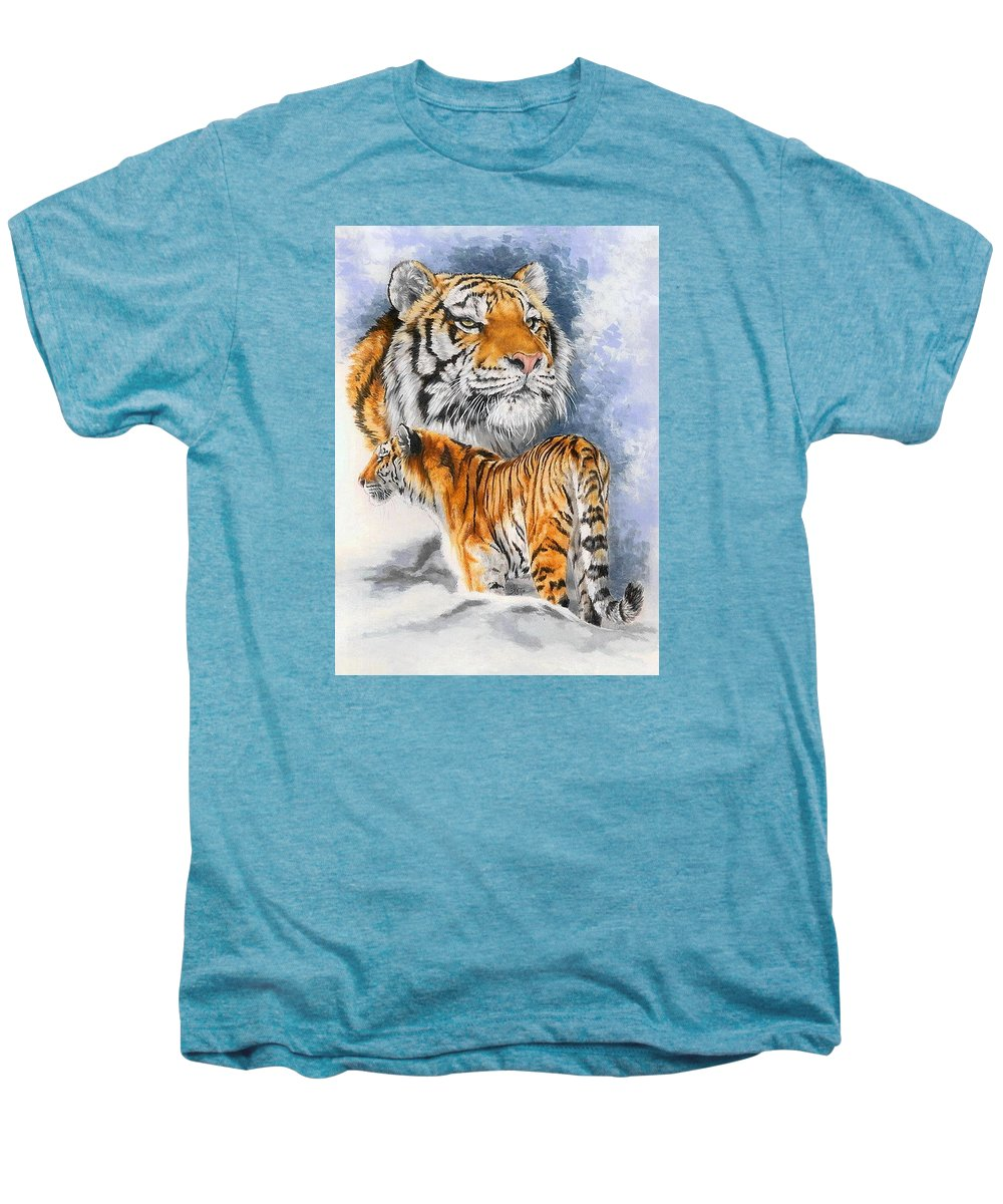 Big Cats Men's Premium T-Shirt featuring the mixed media Forceful by Barbara Keith