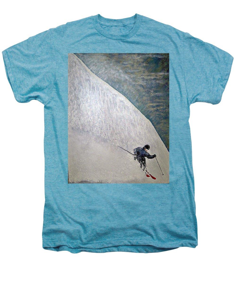 Landscape Men's Premium T-Shirt featuring the painting Form by Michael Cuozzo