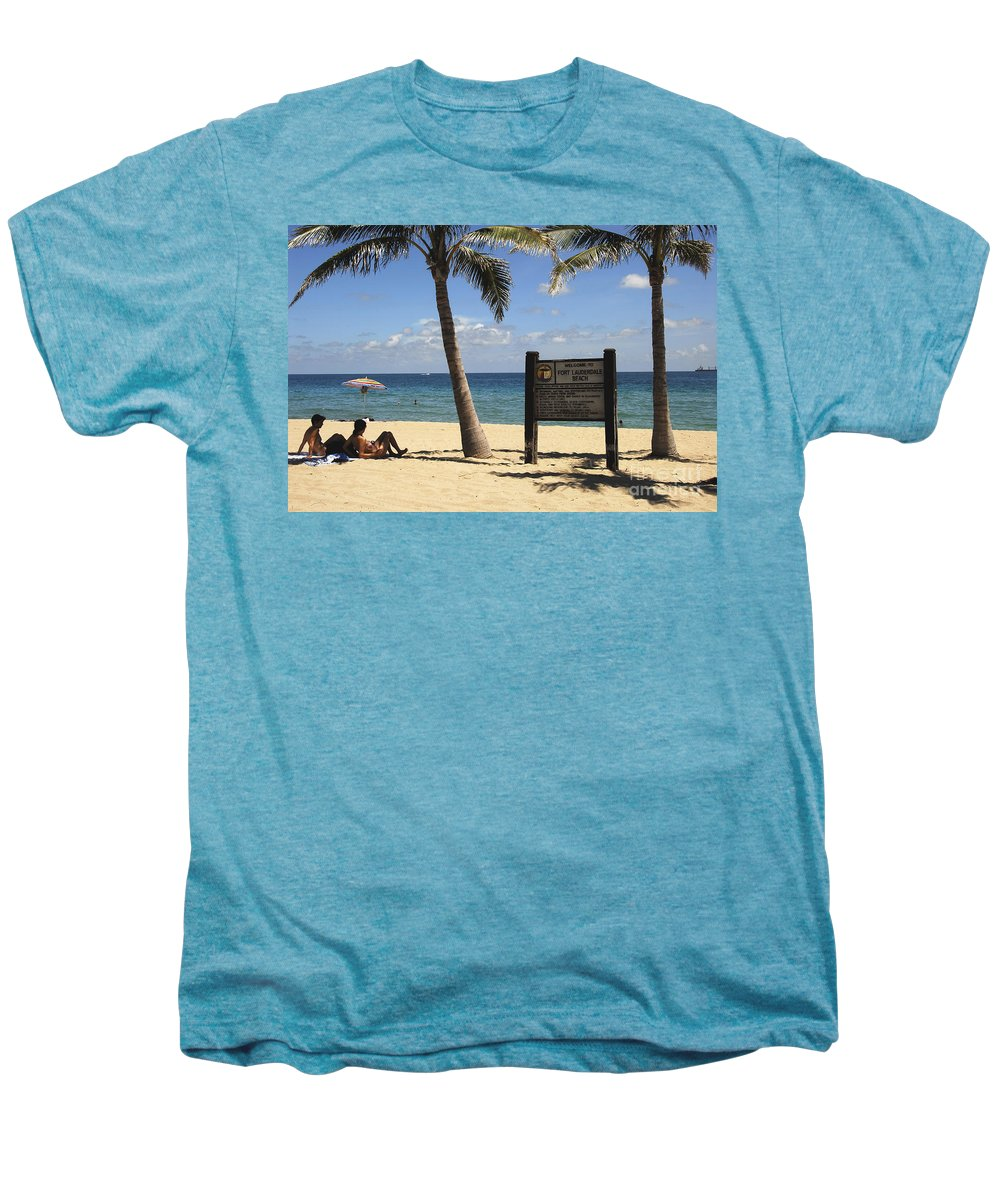 Fort Lauderdale Beach Florida Men's Premium T-Shirt featuring the photograph Fort Lauderdale Beach by David Lee Thompson