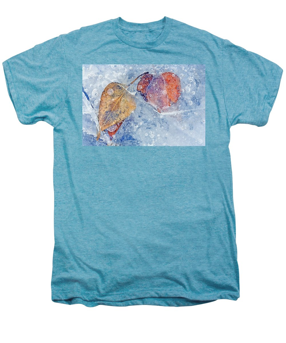 Ice Men's Premium T-Shirt featuring the photograph Fractured Seasons by Mike Dawson