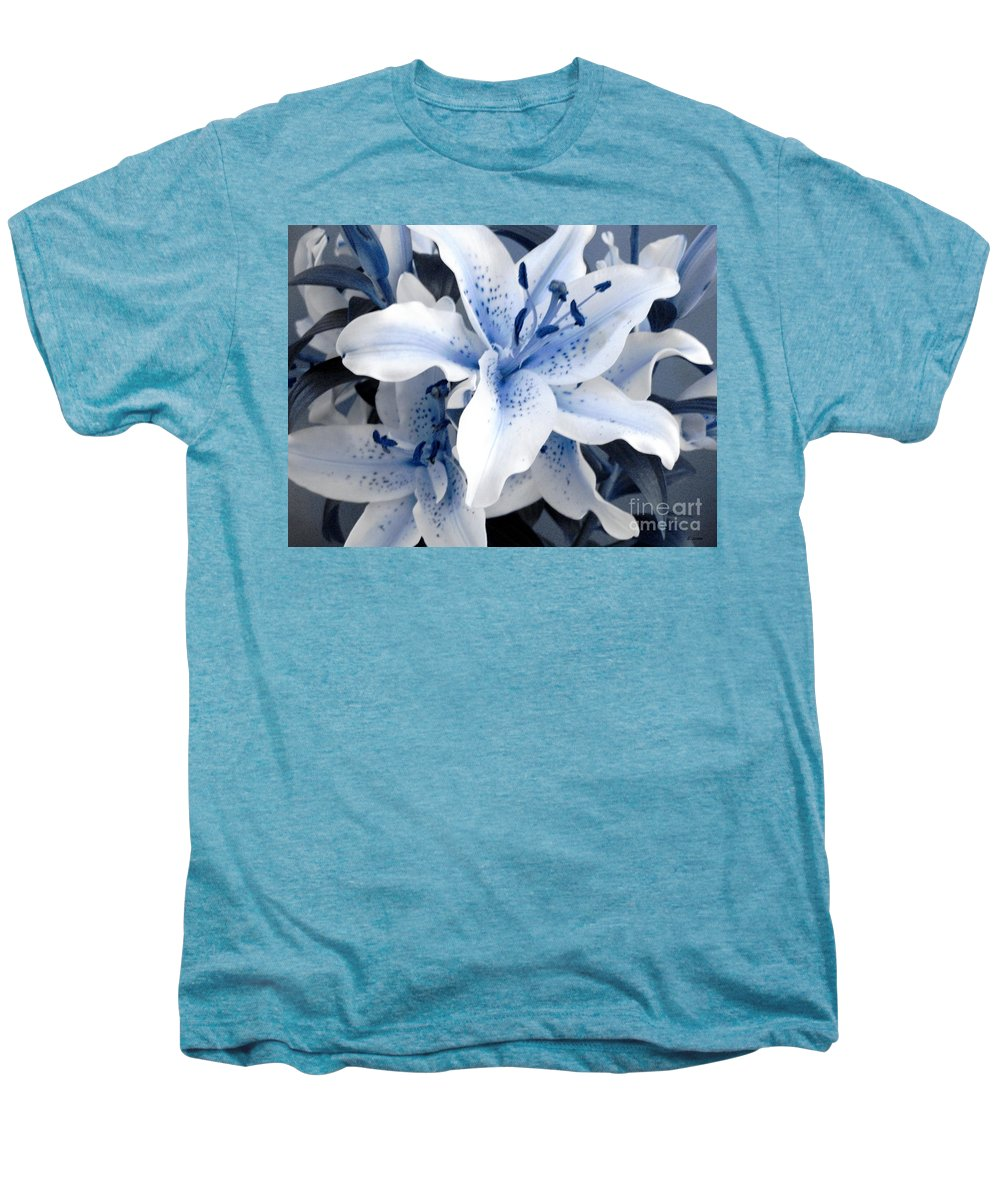 Blue Men's Premium T-Shirt featuring the photograph Freeze by Shelley Jones
