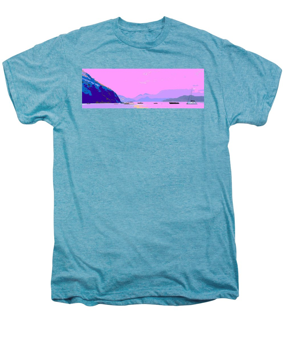 Frigate Men's Premium T-Shirt featuring the photograph Frigate Bay Morning by Ian MacDonald