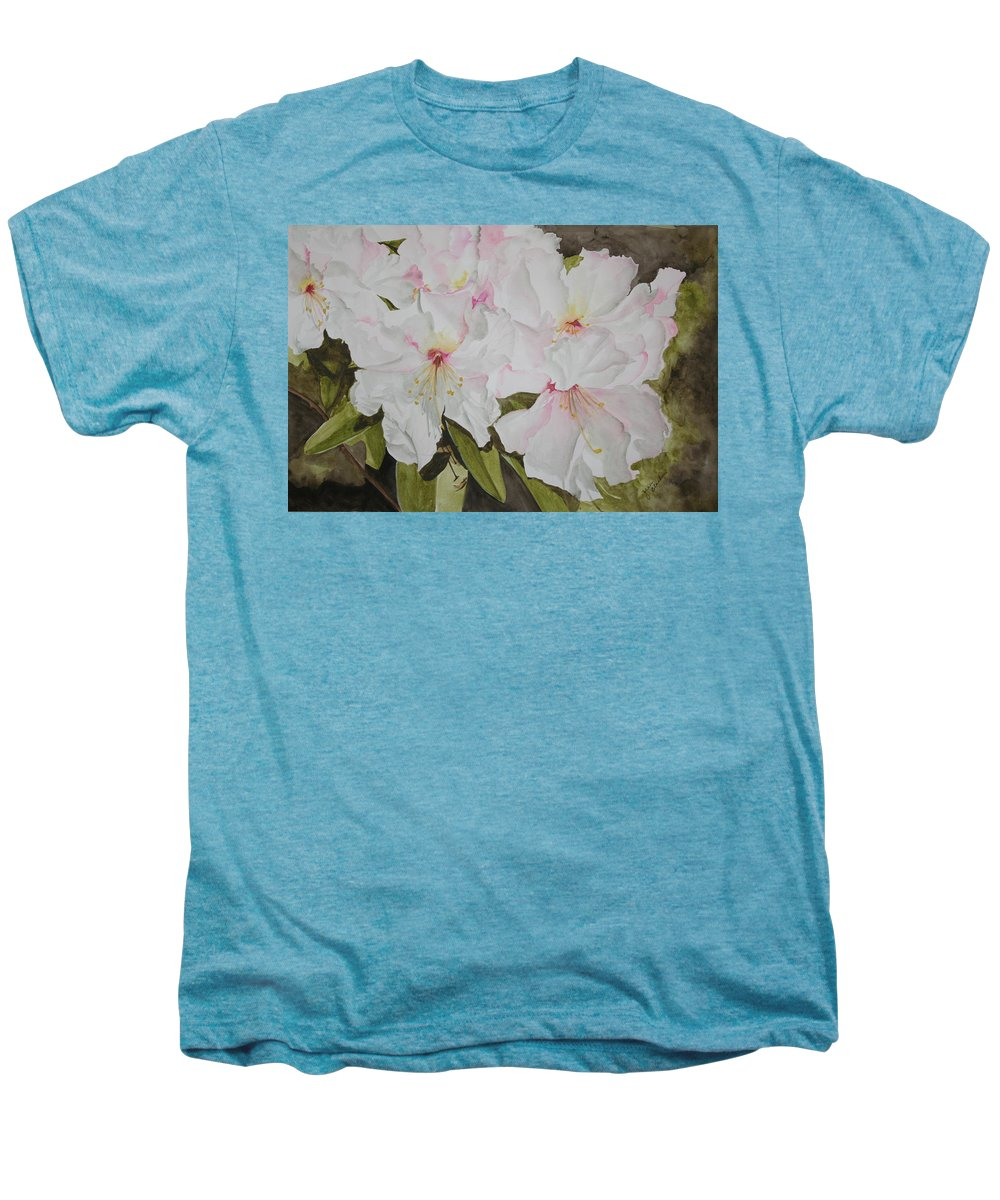 Flowers Men's Premium T-Shirt featuring the painting Full Bloom by Jean Blackmer