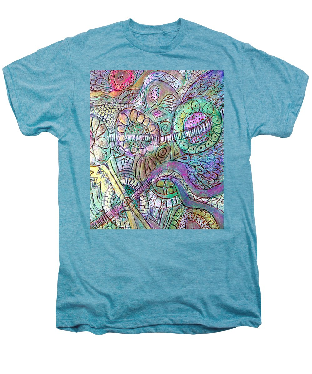 Abstract Men's Premium T-Shirt featuring the painting Garden In The Sky by Wayne Potrafka