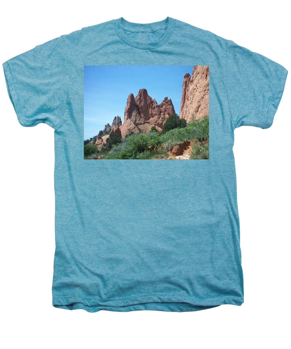 Colorado Men's Premium T-Shirt featuring the photograph Garden Of The Gods 2 by Anita Burgermeister