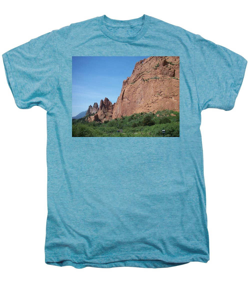 Colorado Men's Premium T-Shirt featuring the photograph Garden Of The Gods by Anita Burgermeister