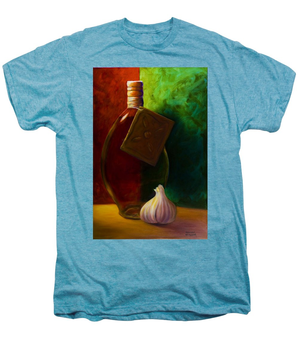 Shannon Grissom Men's Premium T-Shirt featuring the painting Garlic And Oil by Shannon Grissom