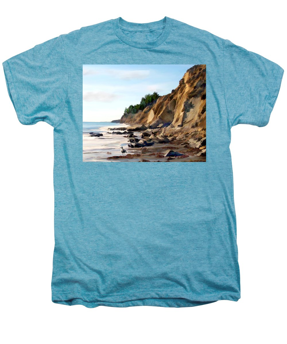 Ocean Men's Premium T-Shirt featuring the photograph Gaviota by Kurt Van Wagner