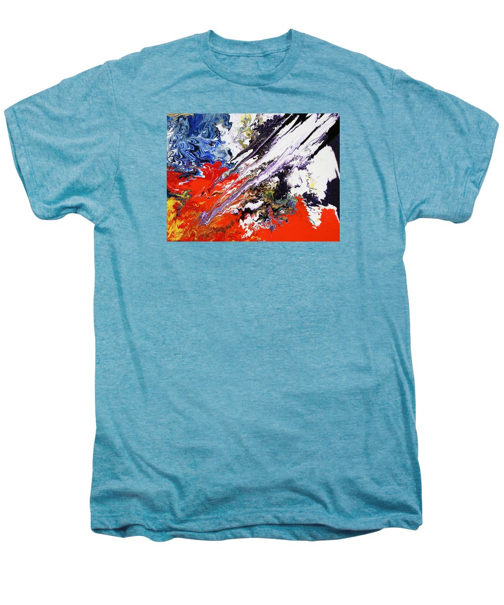 Fusionart Men's Premium T-Shirt featuring the painting Genesis by Ralph White
