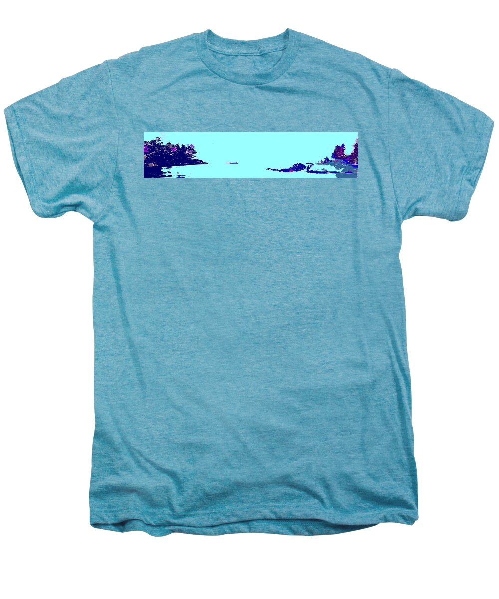 Men's Premium T-Shirt featuring the photograph Georgian Bay Blue by Ian MacDonald