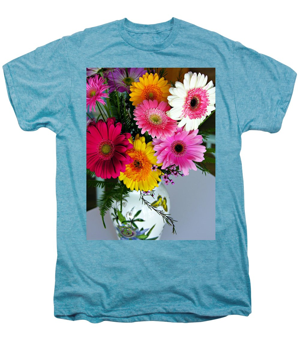 Flower Men's Premium T-Shirt featuring the photograph Gerbera Daisy Bouquet by Marilyn Hunt