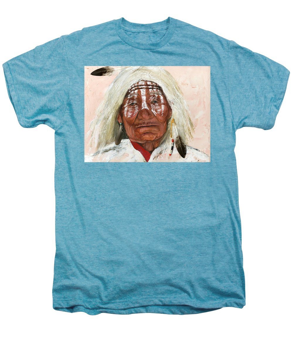 Southwest Art Men's Premium T-Shirt featuring the painting Ghost Shaman by J W Baker